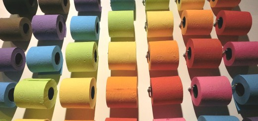 toilet paper colorful